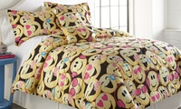 Emoji Collection Printed Comforter Set (4-or 5-Piece)