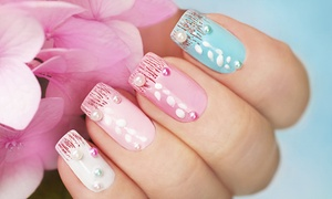 Lanree Aesthetics: Shellac Manicure with 3D Nail Art on One ($39) or Two Nails per Hand ($49) at Lanree Aesthetics (Up to $110 Value)