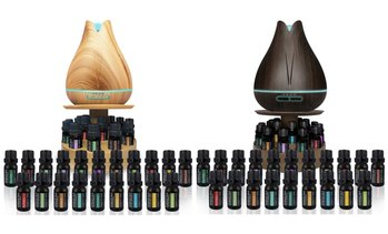 Diffuser with Rotating Display Stand and 20 Essential Oils