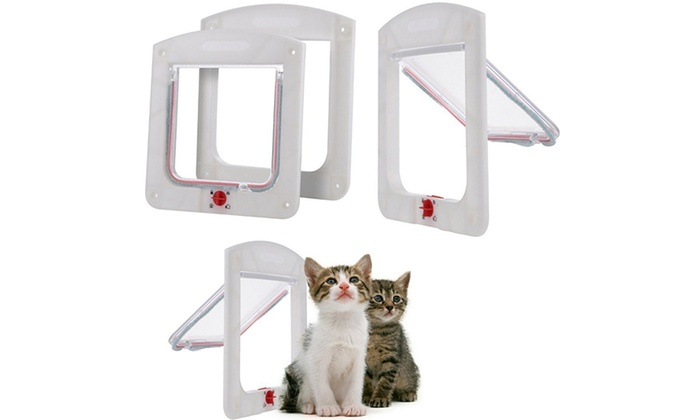 4 Way Locking Pet Door Groupon Goods