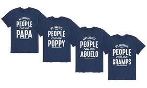 Men's My Favorite People Call Me Grandfather T-Shirts (S-3X)