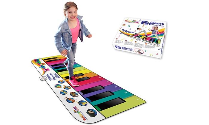 Rainbow Colours 180cm Piano Mat Groupon