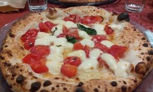 Pizzeria Half Moon: Menu pizza alla carta con antipasto, dolce e birra per 2 o 4 persone alla Pizzeria Half Moon (sconto fino a 73%)