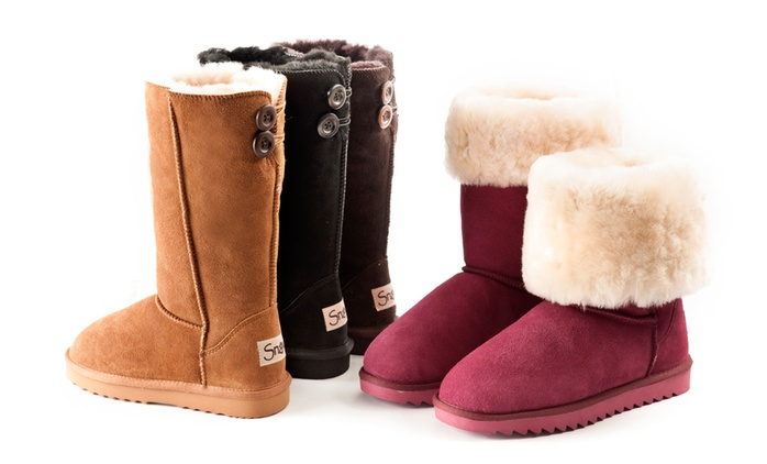 Women's Water-Resistant Suede Boots with Sheepskin Lining for £44.99 With Free Delivery (74% Off)