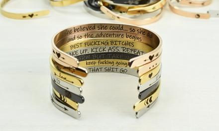 Stainless Steel Cuff Bracelets in