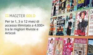 Magzter Inc IT: Fino a 12 mesi di abbonamento ad oltre 4000 riviste online sulla piattaforma Magzter (sconto fino a 70%)