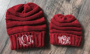 Up to 85% Off Personalized Embroidered Beanies from Qualtry