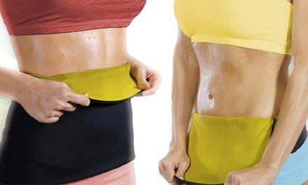 ShapeWear afslankband gericht op extra vetverbranding tijdens het sporten