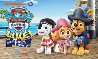 Paw Patrol Live - The Great Pirate Adventure, 2–29 August, Nine Locations (Up to 38% Off)