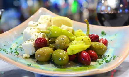 Greek Cuisine at Santorini (50% Off). Two Options Available.