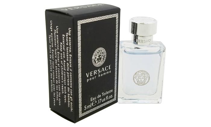 Versace Pour Homme Eau de Toilette Mini Splash for Men; 0.17 Oz.