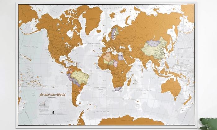 weltkarte zum rubbeln Weltkarte zum Rubbeln | Groupon weltkarte zum rubbeln
