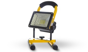 Water-Resistant Heavy Duty Rechargeable LED Flood Light with USB Ports