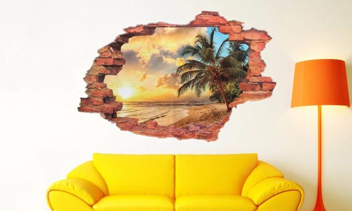 Adesivi 3d per parete groupon goods for Adesivi per pareti