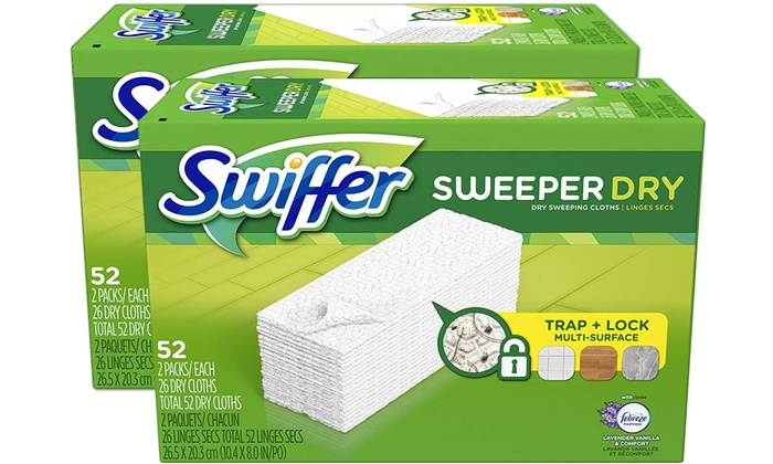Up To 16 Off On Swiffer Dry Mop Pad Refills Groupon Goods