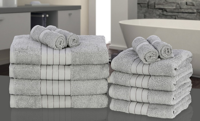 12-Piece Towel Bales in Choice of Colour for £26.99 With Free Delivery (55% Off)