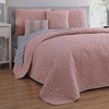 9-Piece Reversible Solid or Embossed Quilt Sets with Sheets