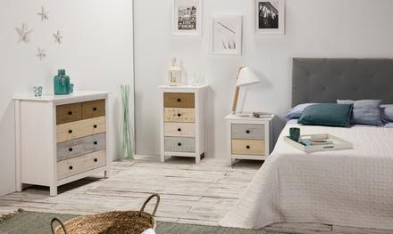 Conjunto de muebles de dormitorio Magda de madera de pino macizo