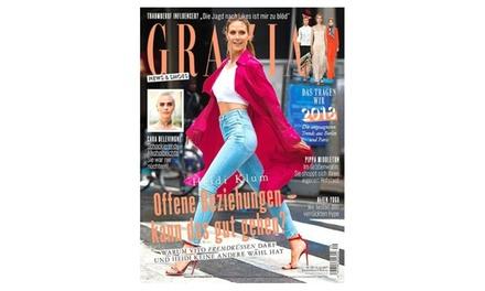 """Rabatt auf ein Halbjahres-Abo der Zeitschrift """"Grazia"""" frei Haus : 4,95 €"""
