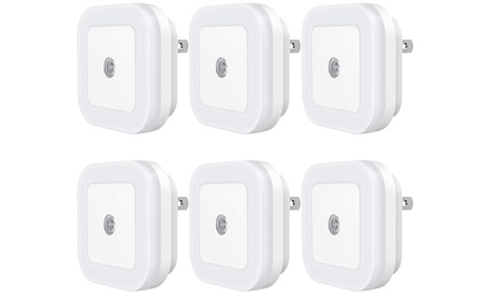 Plug-in LED Night Light with Dusk-to-Dawn Sensor (6-Pack)