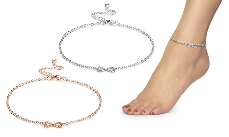 1 ou 2 bracelets de cheville de la marque Philip Jones fabriqué avec des cristaux Swarovski®