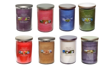 Yankee Candle Assortment Of Four Rare Limited Edition World Journey Large Jar Twin Wick Candles