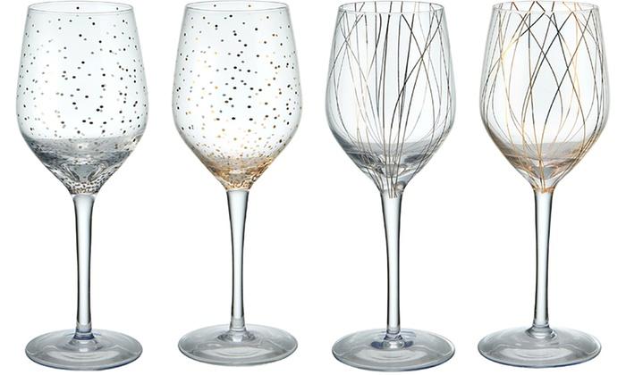 Mikasa Cheers Wine Or Champagne Gl Set 4 Piece