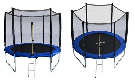 Ensemble complet Jump4Fun avec trampoline, filet de sécurité & échelle, tailles au choix