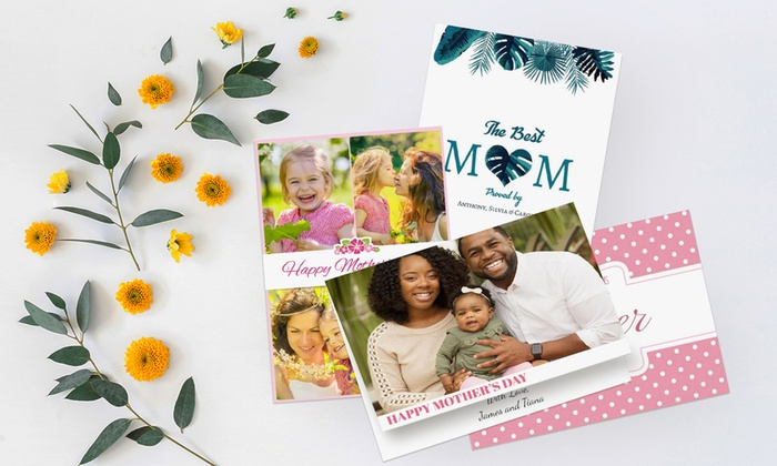 Up to 150 Folded Personalised Greeting Cards from Printerpix (Up to 66% Off)