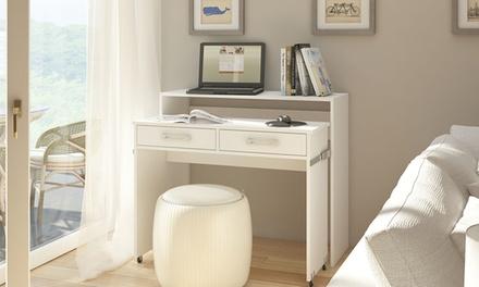Bureau extensible avec 2 tiroirs