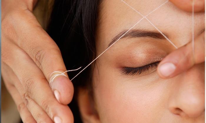 Amita Salon - Lodi: Eyebrow Threading or Eyebrow and Lip Threading at Amita Salon (Up to 52% Off)