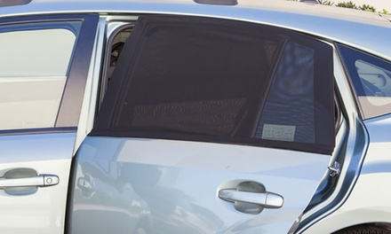 One or Two Two-Piece Universal Car Window Mesh Sunshade Screen Sets