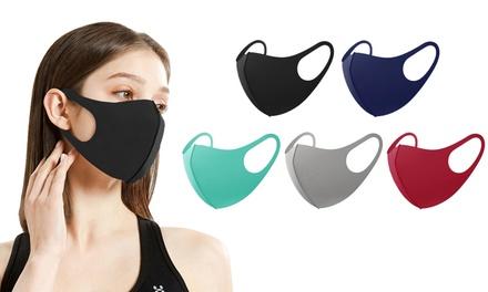 Unisex Non-Medical Reusable Cotton Face Masks (5- or 10-Pack)