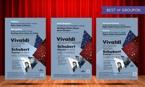 Euromusic: 1 ou 2 places pour Vivaldi les quatre saisons, Schubert Caccini Ave Maria, Airs d'opéra dès 10 € dans une ville au choix