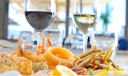 1 kg di pesce fritto con dolce e vino