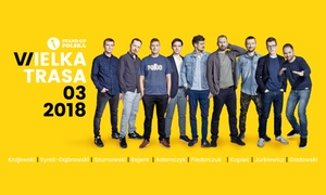 Stand-up Polska: 49,90 zł: bilet na występ Wielka Trasa Stand-up Polska – 1 z 7 miast w Polsce (zamiast 59 zł)