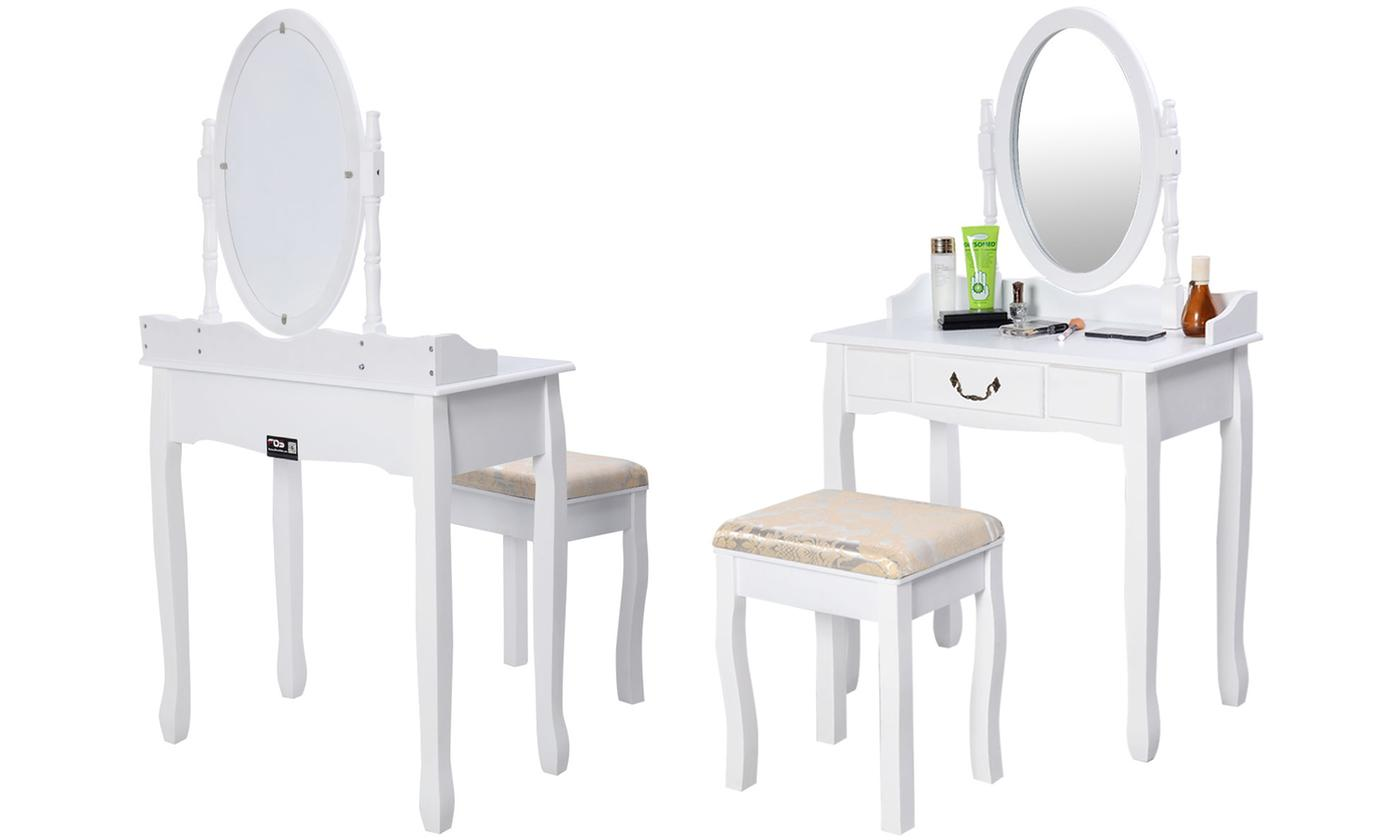 dressing table and chair set