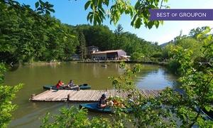 Parco Matildico: Soggiorno di una notte e ingresso al Parco Matildico con pranzo e giro in canoa per 2 adulti e un bambino (sconto 58%)