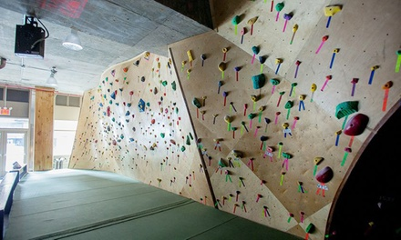 Bouldering   Day Pass for One, Two, or Four at Steep Rock Bouldering  (Up to 56% Off)