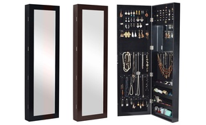 Over The Door Full Length Mirror With Jewelry Storage Inside