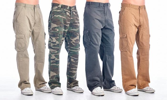 Men's 8-Pocket Cargo Pants | Groupon