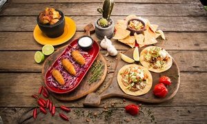 Funky Mexican Cantina Mandurah: Three-Course Mexican Meal with Drinks for Two ($39) or Four People ($77) at Funky Mexican Cantina (Up to $167.80 Value)