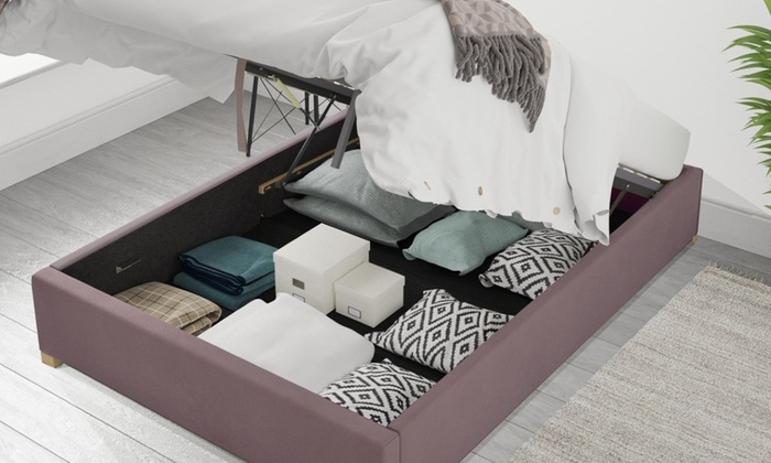 Plush Velvet Ottoman Loft Bed with Optional Bonnel or Pocket Mattress