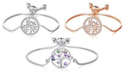 Philip Jones Tree Bracelet with Crystals from Swarovski®