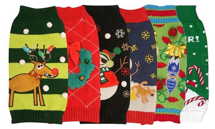 new york dog holiday sweaters groupon goods. Black Bedroom Furniture Sets. Home Design Ideas
