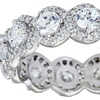 Sterling Silver Antique-Style Eternity Ring with Cubic Zirconia