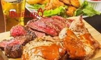 【 45%OFF 】ビーフステーキなどお肉もたくさん。屋内型ビアガーデンで盛り上がろう ≪ KIMURAYAコース ビュッフェ・サラダバ...