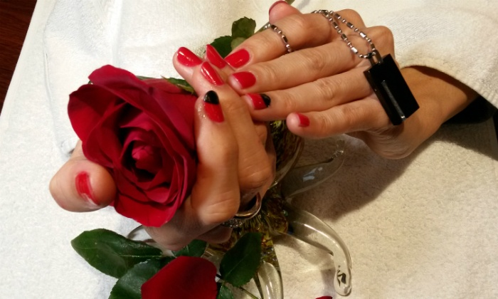 Hai Gloss Nail and Beauty Spa - Washington: Gel Manicure with Paraffin and Optional Express Spa Pedicure at Hai Gloss Nail and Beauty Spa (Up to 51% Off)