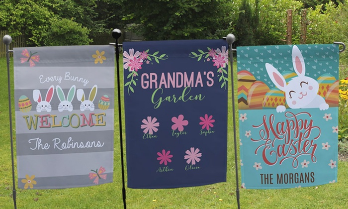garden flags personalized. GiftsForYouNow.com: One Or Two Personalized Garden Flags From GiftsForYouNow.com (Up L