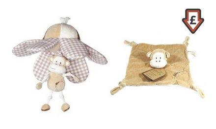 Baby Buds Owl or Monkey Blankie with Optional Toy